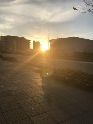 夜走り後日の出