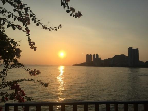 ペナン島朝日